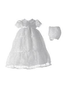 Lauren Madison 2-pc. Christening Baptism Multi-Tiered Lace Dress Gown Set - Baby 0-12 Mos.
