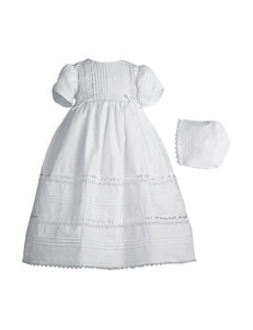 Lauren Madison Christening Baptism Dress Gown With Tucking