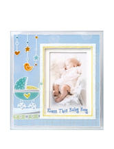 Lauren Madison Boys Baptism Painted 3D Bless This Baby Picture Frame