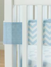 Carter's® Blue Chevron Print Crib Liner