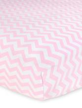 Carter's® Pink Chevron Printed Sateen Crib Sheet