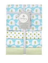 Carter's® 4-pk. Flannel Receiving Blanket Aqua Elephant Print