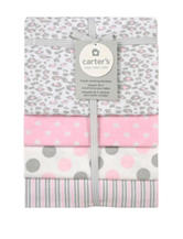 Carter's® 4-pk. Flannel Receiving Blanket Pink Cheetah Print
