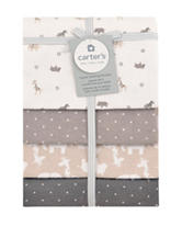 Carter's® 4-pk. Flannel Receiving Blankets