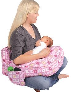Leachco Pink Geometric Print Ease Back Nursing Pillow