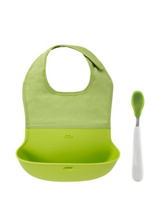 OXO Tot Green Bibs & Burp Cloths