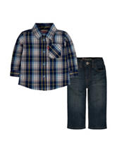 Levi's 2-pc. Plaid Shirt & Jeans – Baby 12-24 Mos.