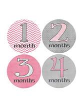 Rocket Bug Girly Grey Growth Stickers