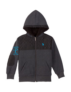 U.S. Polo Assn. Quilted Chest Sherpa Hoody – Boys 8-20