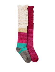 La De Da Dark Pink Socks