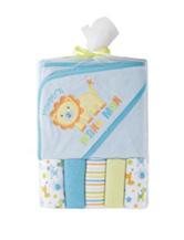 Cutie Pie Blue Lion Terry Cloth Bath Set – Baby
