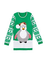 Derek Heart Christmas Penguin Sweater – Girls 7-16