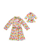 Dollie & Me Polka Dot Print Robe – Girls 4-14