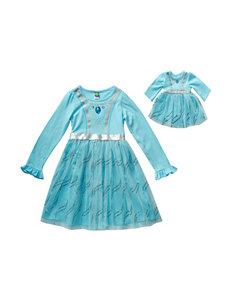 Dollie & Me Aqua Princess Dress – Girls 4-14