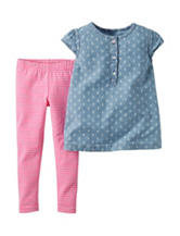 Carter's® 2-pc. Chambray Top & Leggings Set – Baby 0-24 Mos.