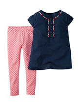 Carter's® 2-pc. Embroidered Top & Leggings Set – Baby 0-24 Mos.