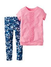 Carter's® 2-pc. Pink Top & Leggings Set – Baby 0-24 Mos.