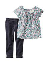Carter's® 2-pc. Floral Print Top & Denim Leggings Set - Baby 3-24 Mos.