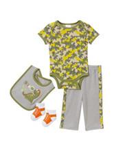 Cutie Pie 4-pc. Camo Print Dino Pant Set – Baby 3-6 Mos.