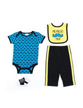 Baby Gear 4-pc. Mustache Bodysuit Set - Baby 0-12 Mon.