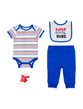 Baby Gear 4-pc. Super Cool Bodysuit Set - Baby 0-12 Mon.