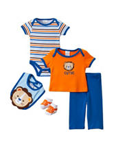 Baby Gear 5-pc. Lion Striped Pant Set - Baby 0-9 Mos.