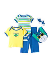 Baby Gear 5-pc. Hippo Print Pant Set - Baby 0-9 Mos.