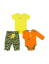 Baby Gear 3-pc. Dino Camo Print Pants Set - Baby 0-9 Mon.