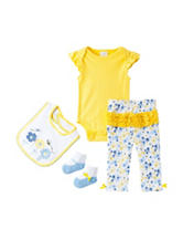 Baby Gear 4-pc. Embroidered Bee Bodysuit Set – Baby 0-3 Mos.