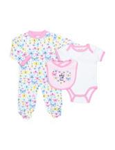 Cutie Pie 3-pc. Butterfly Bodysuit Set - Baby 0-6 Mos.