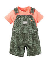 Carter's® 2-pc. Leaf Print Shortalls & Shirt Set - Baby 0-12 Mos.