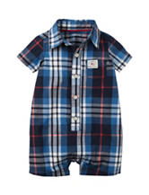 Carter's® Multicolor Plaid Print Romper - Baby 0-12 Mos.