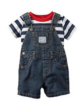 Carters® 2-pc. Striped Print Shirt & Shortall Set - Baby 0-12 Mos.
