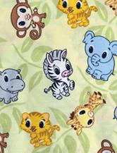 Trend Lab Chibi Zoo Crib Sheet
