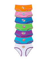 Sweet Princess 7-pk. Multicolor Monkey 7-Day Panties Set – Girls 4-12