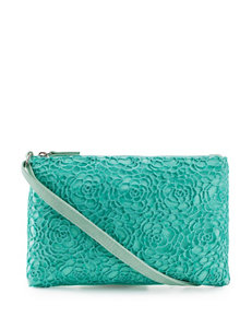 On the Verge Mint Lace Sequin Shoulder Bag