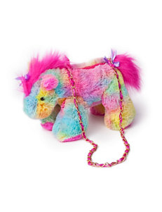 Olly & Friends Tie Dye Plush Horse Handbag