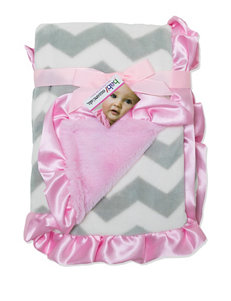 Baby Essentials Chevron Print Plush Blanket