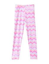 Wishful Park Pink Multicolor Heart & Zigzag Print Leggings – Toddlers & Girls 4-6x