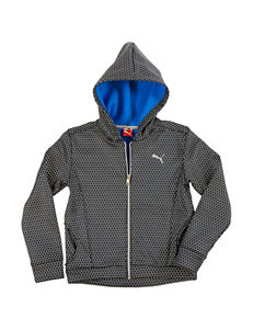Puma Grey Fleece & Soft Shell Jackets