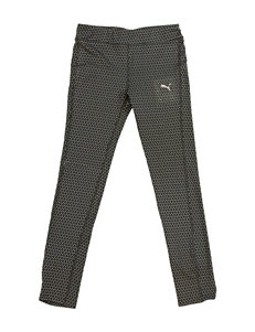 Puma Clay Gray Metallic Print Leggings – Girls 4-6x