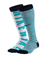 Nike® 2-pk. Graphic Print Knee Socks – Girls