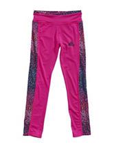 adidas® Pink Pike Striped Leggings –Toddlers & Girls 4-6x