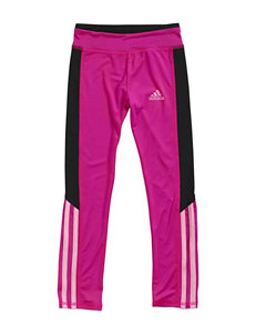 adidas® Pink Multicolor Super Striped Leggings – Toddlers & Girls 4-6x