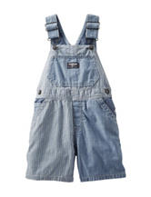 OshKosh B'Gosh® Indigo Wash Striped Denim Shortalls – Baby 12-24 Mos.