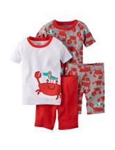 Carter's® 4-pc. Crab Themed Pajama Sets - Baby 12-24 Mos.