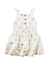 Carters®  Gold Medallion Print Dress - Baby 0-12 Mos.