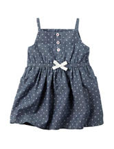 Carters® Chambray Dot Dress - Baby 0-12 Mos.