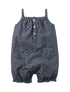 Carter's® Chambray Star Print Sunsuit - Baby 0-12 Mos.