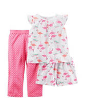 Carter's® 3-pc. Flamingo Pajama Set – Baby 12-24 Mos.